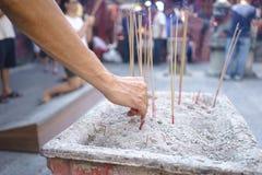 Angebot von Joss Sticks in Penang-Tempel Stockbild