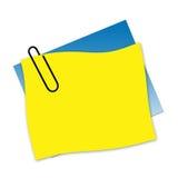 Angebrachte Papiere Stockbild