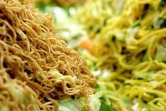 Angebratene Nudeln mit Gemüse, thailändische Küche Lizenzfreies Stockfoto