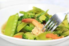 Angebratenes Gemüse Stockfoto