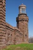 anged взгляд близнеца башни передних светов северный Стоковое Изображение RF