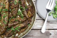 Angefüllte Aubergine oder Bharwa Baigon, ein indischer vegetarischer Zutritt stockfoto