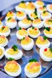 Angefüllte Eier Stockfotografie