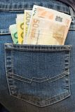 Angefüllte Hosen-Tasche Stockbilder