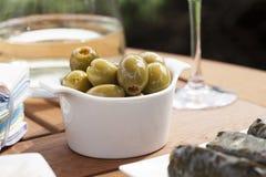 Angefüllte Oliven Lizenzfreie Stockbilder