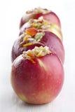 Angefüllte rote Äpfel für Bäckerei Lizenzfreies Stockfoto