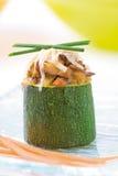 Angefüllte Zucchini Lizenzfreies Stockfoto