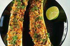 Angefüllte Zucchini Stockbild