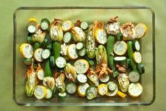 Angefüllte Zucchiniblumen Lizenzfreies Stockfoto