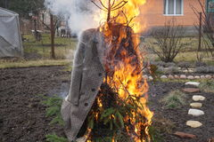 Angefüllter Burning Lizenzfreies Stockbild