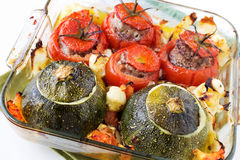 Angefülltes Gemüse Lizenzfreie Stockbilder