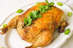 Angefülltes Huhn Stockfotografie