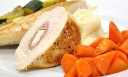 Angefülltes Huhn-Abendessen Stockbilder