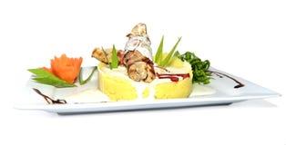 Angefülltes Huhn-Abendessen Lizenzfreies Stockfoto