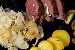Angefülltes Lammfleisch Stockfotos