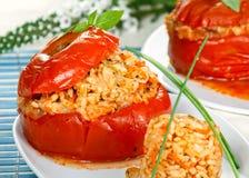 Angefüllte Tomate Stockbild