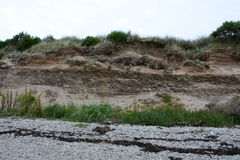 Angehobener Strand an Meikle-Fähre Stockfotos