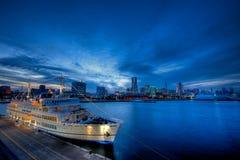 Angekoppelt worden am Osanbashi Pier Lizenzfreies Stockfoto