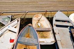 Angekoppelte Rowboats lizenzfreie stockbilder