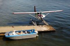 Angekoppeltes Seeflugzeug Lizenzfreies Stockfoto