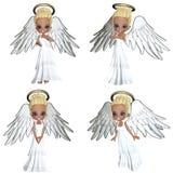 Angel 1. 3d render of Angel 1 Royalty Free Stock Image