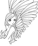 Angel. Illustration of an Angel done with PC Stock Photography