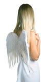 Angel. Lovely angel on white background. Isolation Stock Photo