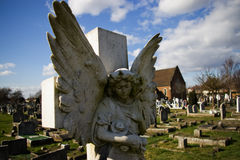 The angel. The figure of angel. graveyard Royalty Free Stock Image