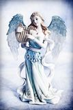Angel. Beautiful angel over romantic light background Royalty Free Stock Images