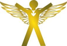 Angel. Decoration, floodgates, glamour gold Royalty Free Stock Photo