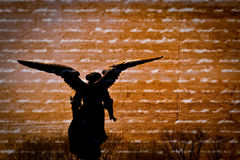 Angel. Silhouette of angel on textured background Stock Images