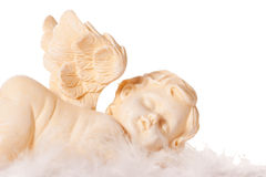 Angel. A sleeping angel, isolated on a white background Stock Photography