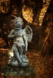 Angel. Statue in the woods Stock Image