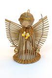 Angel. A christmas decoration made of straw Royalty Free Stock Images