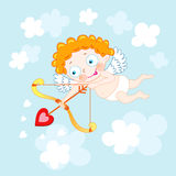 Angel. Postcard Valentine's day Royalty Free Stock Image