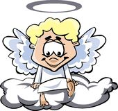 Angel. Little angel in heaven - cherubin Royalty Free Stock Images