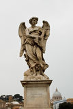 Angel. Sculpture from St o bridge in Rome, Italy Stock Images