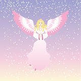 Angel. Xmas angel on sky, vector Royalty Free Stock Image