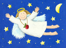 Angel. Illustration of Angel in the night Stock Photography