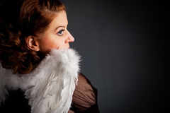 Angel. Beautiful girl with angels wings Stock Images