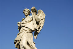 Angel. Statue on Ponte Sant' o Rome Italy Stock Images