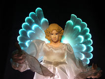 Angel. An angel with neon light Royalty Free Stock Photo