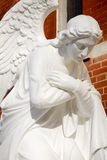 Angel. Statue of an angel with a downcast face Royalty Free Stock Image