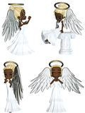Angel 2. 3d render of Angel 2 Royalty Free Stock Images