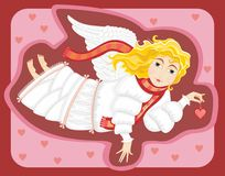 Angel. With heart in a hand. Valentines day Stock Image