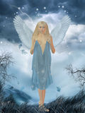 Angel. 3d render of an angel Royalty Free Stock Photo