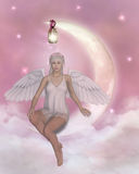 Angel. 3d render of an angel Royalty Free Stock Image