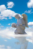 Angel. A statue of an angel against the sky Stock Photo