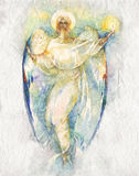 Angel. Watercolor Painting Angel by artist Nadiia Starovoitova royalty free illustration