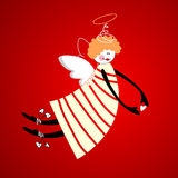 Angel. Of love, happiness and harmony. Vector Royalty Free Stock Photos